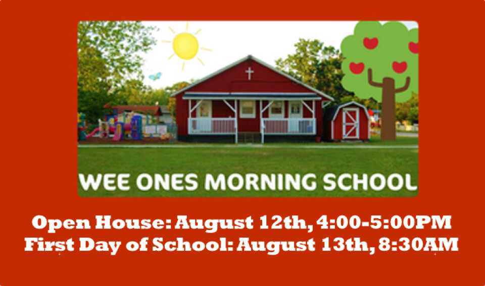 Wee Ones Morning School Open House 4PM-5PM